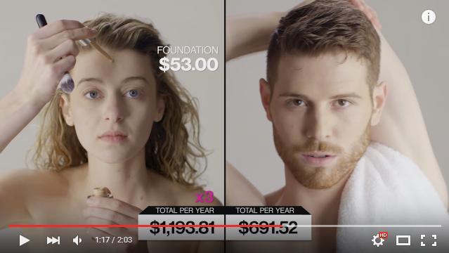 朝の身仕度に必要な金額を男女で比較してみた結果……女性にかかるお金は男性の約3倍ということが判明!