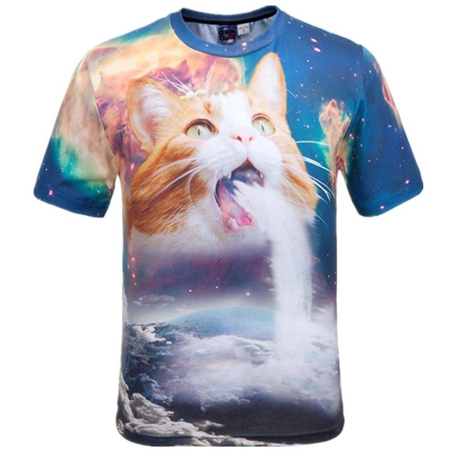 Amazonでデザインセンスが斜め上な「猫Tシャツ」を大量に発見! シュールで神秘的な猫たちがヤバすぎる