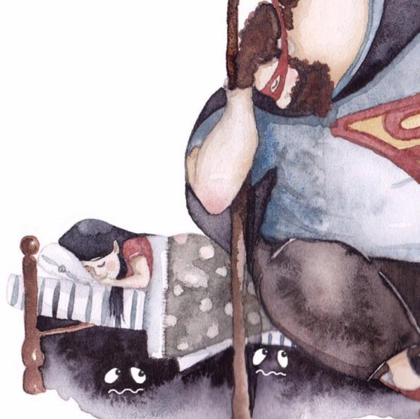「大きなお父さんと小さな娘」の日常を描いたイラストがInstagramで話題! お父さんだけのお姫様だったあの頃にタイプワープしちゃいそう