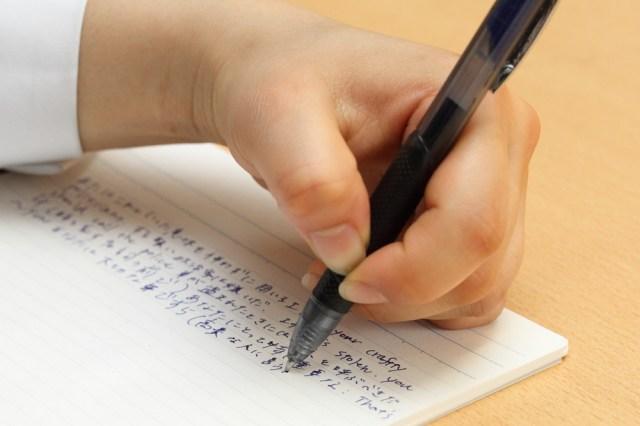 左利きの人の神ボールペン!! 「書いた文字をこすってしまっても汚れない」速乾ジェルボールペンがジワジワ人気上昇中!