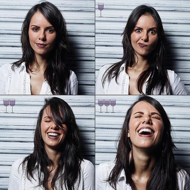 1杯で変顔、2杯で笑顔…ブラジルのカメラマンが「ワインの量と表情の変化」について調査してみたプロジェクトがとっても興味深い結果に!