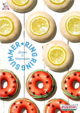 クリスピー・クリーム・ドーナツの期間限定商品『スイカ』と『レモン グレーズド』が登場したよ☆ 初夏の気分を盛り上げよう!!