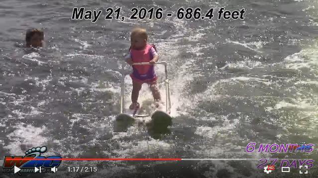 【天才現る】生後6カ月の赤ちゃんが水上スキーを華麗に乗りこなしてる〜! 世界最年少プレーヤーの誕生かも!!