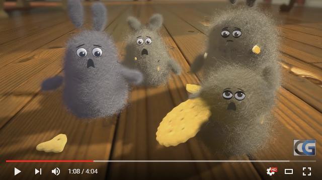 「ホコリVSお掃除メイド」勝つのはどっち!? モッフモフの可愛いホコリたちが活躍するCGショートアニメ『ダスト・バディーズ』が楽しい!