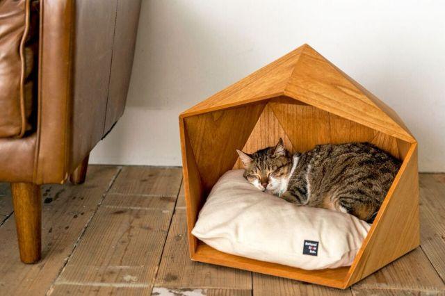 甘やかしすぎ? お猫様・お犬様専用の極上デザインハウス「KAMAKURA」がとっても居心地良さそう♪