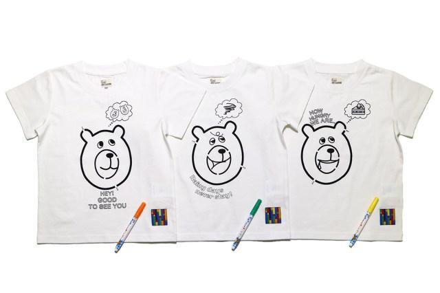 サクラクレパスとcoenがコラボ♪ コーエンベアがかわいいキッズ向けの「ぬりえTシャツ」が新登場だよ!