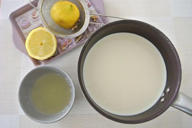 牛乳とレモン汁で作れちゃう超かんたんカッテージチーズ! 6月1日は牛乳・チーズの日です