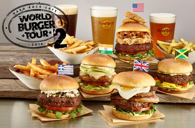 世界の「ご当地ハンバーガー」20種類が大集合! ハードロックカフェの「ワールドバーガーツアー」がちょっとスゴいよ!!