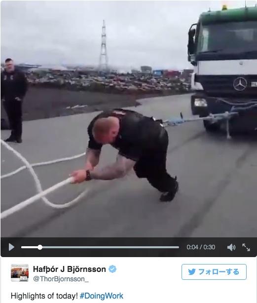 17トンのトラックを引っ張ってトレーニングしているゴリマッチョ発見! これリアル・ザンギエフやないか…!!