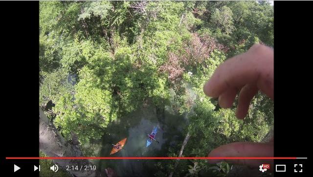 高さ18mの木に登って川へ大ジャーンプ! 「リアル・ターザン」イケメンの大胆チャレンジに背筋がゾクゾク