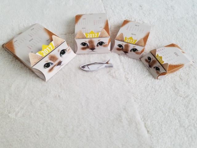 マトリョーシカみたい! 箱の中から次々に猫が出てくる「ネコリョーシカカレンダー」が可愛すぎる☆