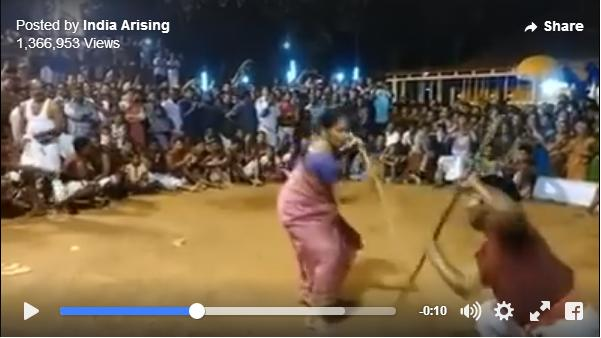 インド武術「カラリパヤット」の達人は76歳のおばあちゃん! 若い男性に全く引けをとらない華麗な身のこなしをご覧ください