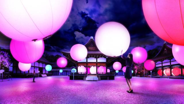 呼吸する光の球体? 京都「下鴨神社」のライトアップイベントがめちゃ幻想的 / 糺の森がアート空間になるんだって!