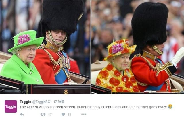 イギリスのエリザベス女王の洋服コラが海外で大流行中! 失敬すぎるけどジワジワ笑いが止まりません…