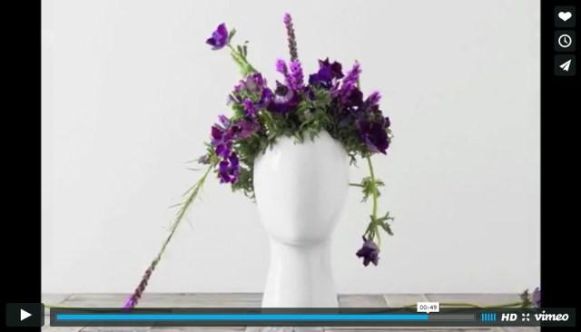どんな花を飾ってもイケて見えるぜ! 花瓶「ウィッグ・ベース」で好きなヘアスタイルを楽しんじゃえ☆