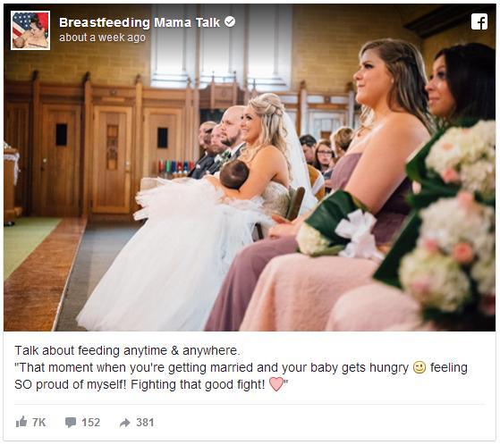花嫁がウェディングドレス姿のまま赤ちゃんに授乳! 結婚式で起きたハプニングがネットで話題に&「私も授乳したわ」という声も
