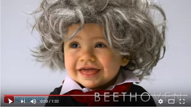 ちっちゃくてキュートなベートーヴェンが誕生! 赤ちゃんたちが次々に歴史上の有名人にコスプレする動画