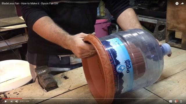 【ダイソンは作れる】チープな材料でダイソン扇風機を自作した男性を発見! 元はウォーターコンテナと植木鉢なのに…カッコ良くて悔しい件