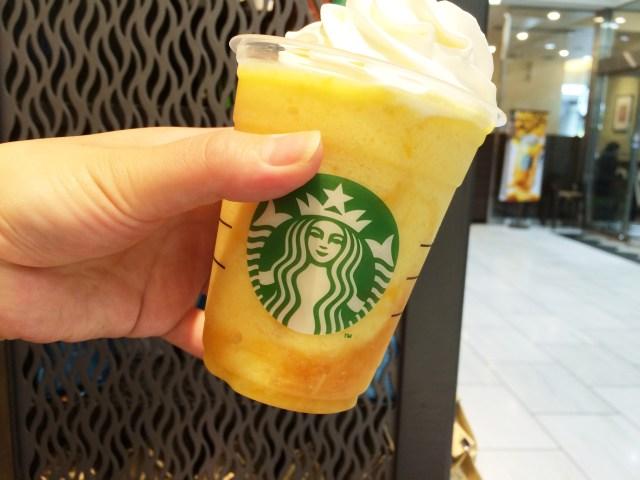 【スタバ新作】オレンジ感がパネエエェェ!!! 「クラッシュ オレンジ フラペチーノ」は 3変化の不思議系フラペチーノだよ♪