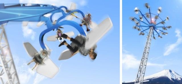 地上約32mで旋回&横回転! 富士急ハイランドに5年ぶりに登場する絶叫アトラクション「テンテコマイ」がなんだかスゴそう