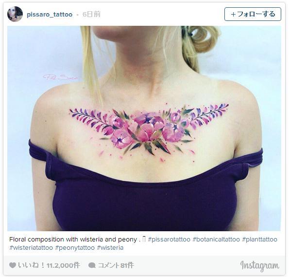 自然の植物や花をモチーフにしたボタニカルタトゥーが美しすぎる! こんなに繊細なデザイン見たことない…!!