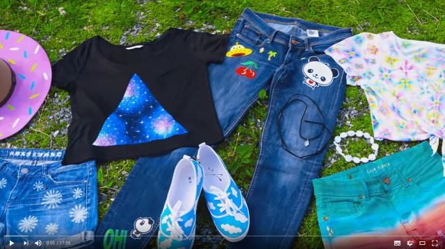 シンプルな服をリメイクしちゃおう! 夏にぴったりなDIYテクニックを紹介する動画が楽しいよ♪