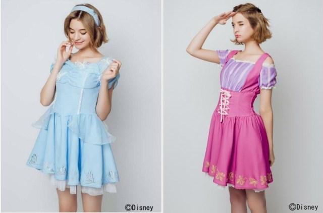 【ハロウィンに】ディズニープリンセス「シンデレラ」「ラプンツェル」イメージのミニ丈ドレスが可愛いよ / 姉妹コーデで楽しんじゃお♪