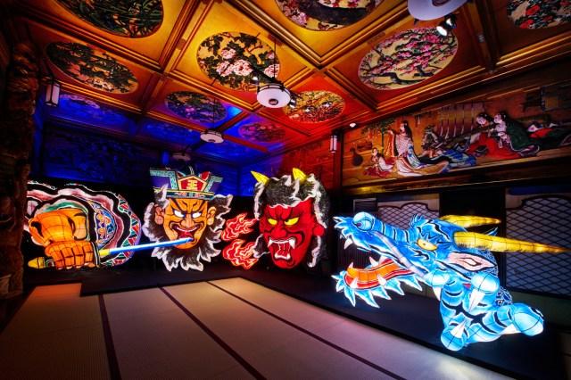 【写真撮影OK】目黒雅叙園の「百段階段」にお化け屋敷や銭湯が出現!? 優雅で幻想的なアートイルミネーションが開催中です