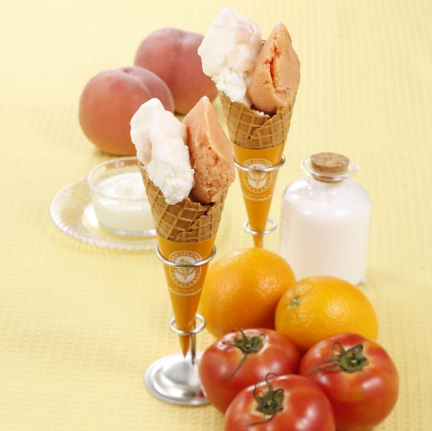 熱中症対策になるかも!? トマト嫌いでも食べられるという「塩オレンジトマト」ジェラートが美味しそう♪