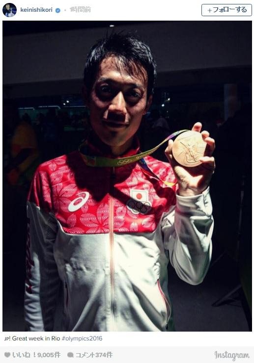 【祝・銅メダル!!】錦織圭選手が試合後の写真をインスタグラムにアップ! 祝福コメントが続々と集まっているよ~っ!!