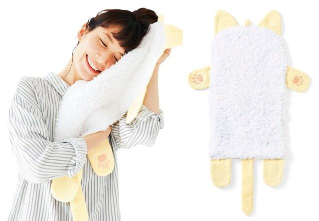 「ネコの胸毛タオル」が誕生しました / ニャンコの胸毛を好きなだけモフモフできるなんて!!! しかも冬毛です