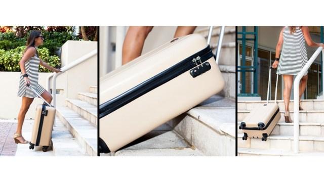 このスーツケースなら階段の昇り降りも怖くない! 寝かせた状態で移動することができて超便利そうです
