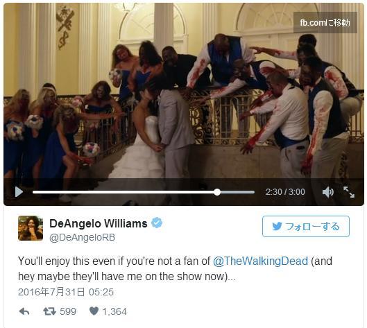花嫁も出席者も全員ゾンビ! ドラマ『ウォーキング・デッド』が大好きな花婿が「ゾンビウェディング」ムービーを制作したんだって…