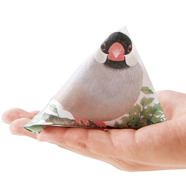 きゅるる~ん♪ 輝く瞳の文鳥たちのポチ袋が胸ドキのかわいさです / テトラ折りをすると立体的な「手乗り文鳥」になっちゃうよ!!!