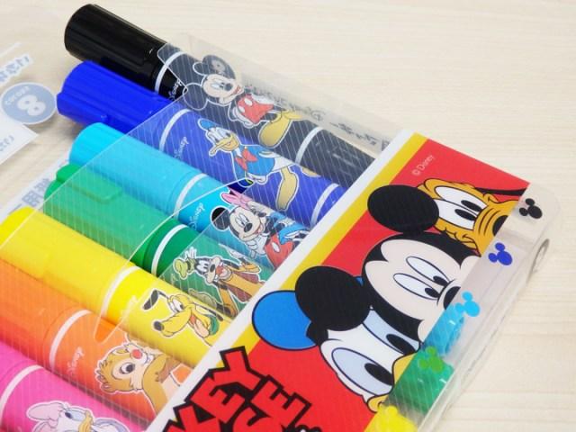ディズニーデザインの「紙用マッキー」がワクワクしちゃうかわいさです! 黒色はミッキーで青色はドナルドだよ♪