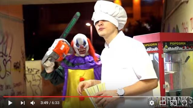 【マジ怖】あの殺人ピエロが今年も帰ってきた!! 恐怖のドン底に突き落とされる「ドッキリ動画」が前作以上のクオリティ!