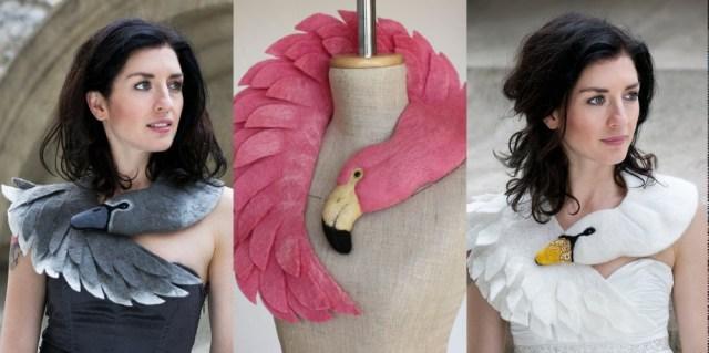 首に巻くアクセサリー「フェルトアニマル」が大人可愛い! おススメはグレーカラーの白鳥ちゃんです☆