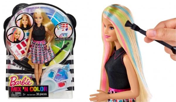 子どものころやってみたかったやつだ…髪の毛を好きな色にカラーリングできちゃうバービーが発売されたよ♪