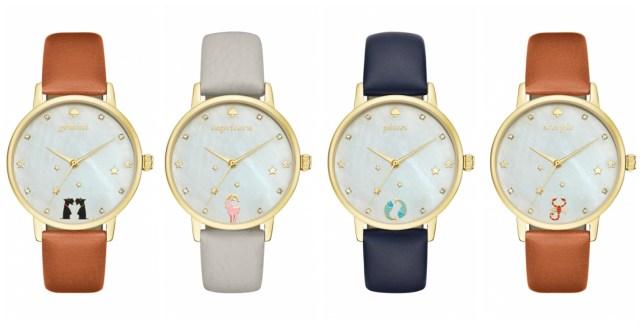 ケイト・スペードからロマンチックな12星座の腕時計が出たよ♪ 6時の位置に星座のアイコンが!
