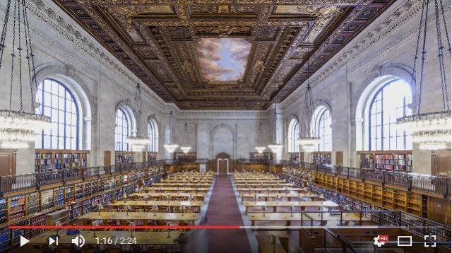 52000冊の本を整理する様子が圧巻です / ニューヨーク公共図書館で撮影されたタイムラプス映像が美しい…