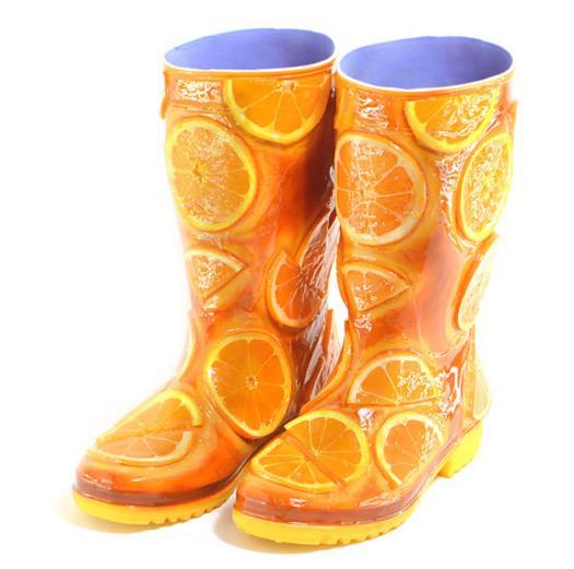 ブーツが美味しそう♪ 食品サンプル会社が本気を出した「オレンジケーキのブーツ」にヨダレがでそう
