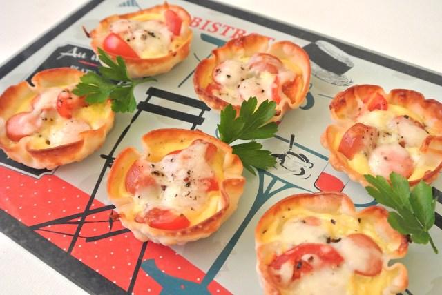 【超簡単レシピ】チーズの会社が紹介する「ぎょうざの皮キッシュ」が可愛くて美味しいっ ホームパーティーでも大活躍しそうだよ☆