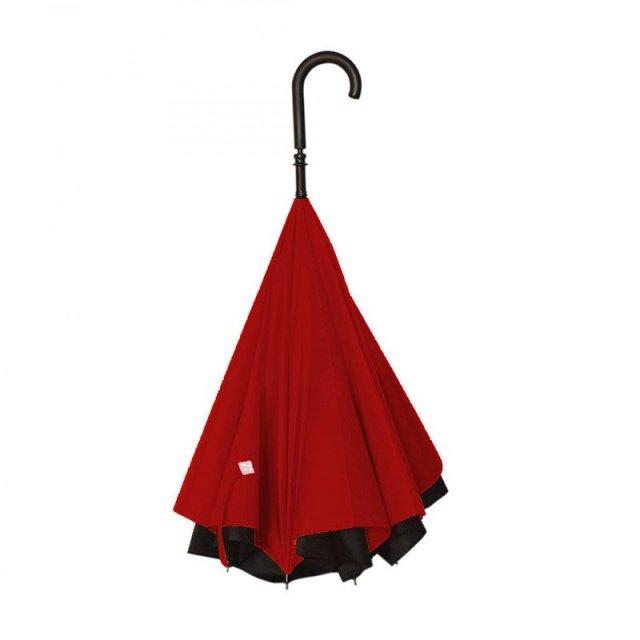 """【閉じるのではなく開く】逆転の発想で生まれた雨粒を包み隠す """"逆さ傘"""" が超便利そう"""