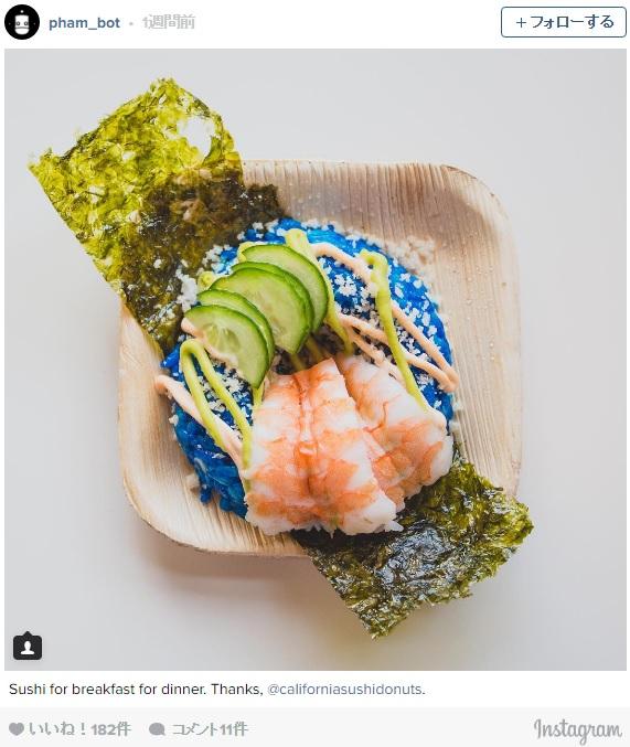 シャリが赤、青、緑…と超カラフル!! 「寿司ドーナツ」が予想だにしない方向に進化している模様