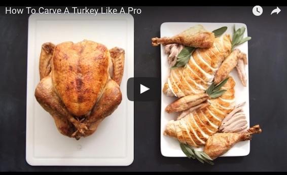 鶏の丸焼きでも応用できそう! 素人にもよくわかるローストターキーの切り分け方動画