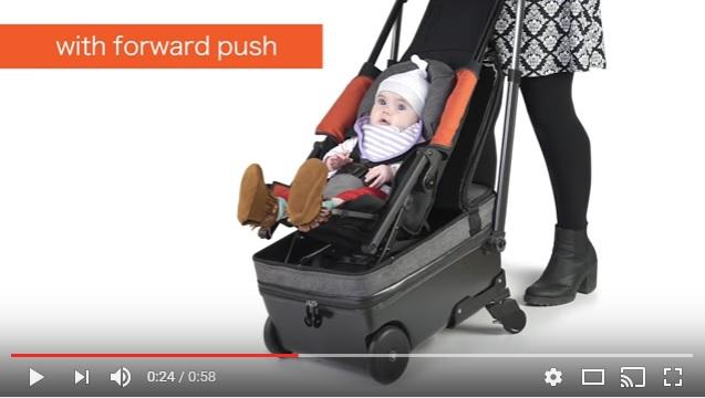 スーツケースとベビーカーのハイブリッド!! 赤ちゃんごと荷物を運べる「ベビーカー内蔵キャリーケース」が超便利そう