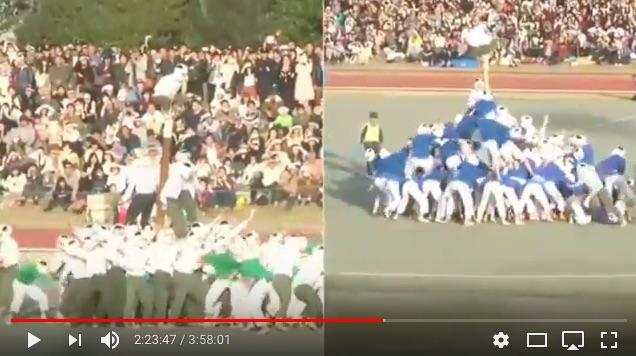 【男の本気】防衛大学校名物「棒倒し」は今年も150人の精鋭部隊が激闘!! 青い服の第2大隊の強さに注目ですっ