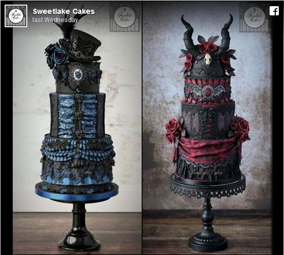 【食べる芸術】ゴシック&スチームパンクなウェディングケーキが繊細で美しすぎて…食べるのがもったいない!!