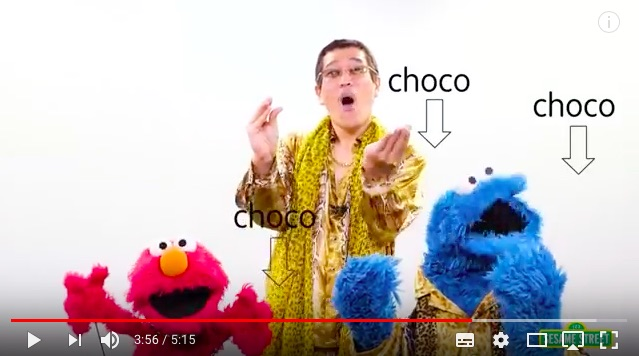 エルモ&クッキーモンスターとピコ太郎がコラボした『CBCC』が超かわいい / アンチ『PPAP』にこそ見てほしいキュートさ!!