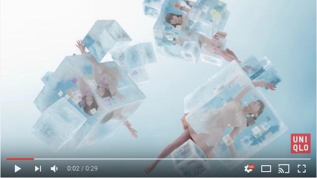 氷の中で眠り続けるPerfumeが神秘的で美しい…ユニクロ「ヒートテック」スペシャルムービー第1弾が公開されたよ♪
